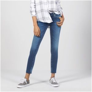 AG The Legging Raw Hem Ankle Skinny Jeans 27